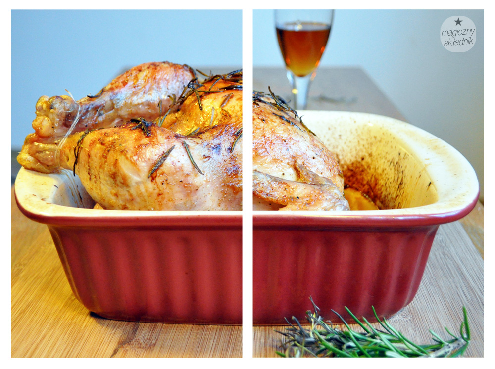 Kurczak pieczony z winem śliwkowym