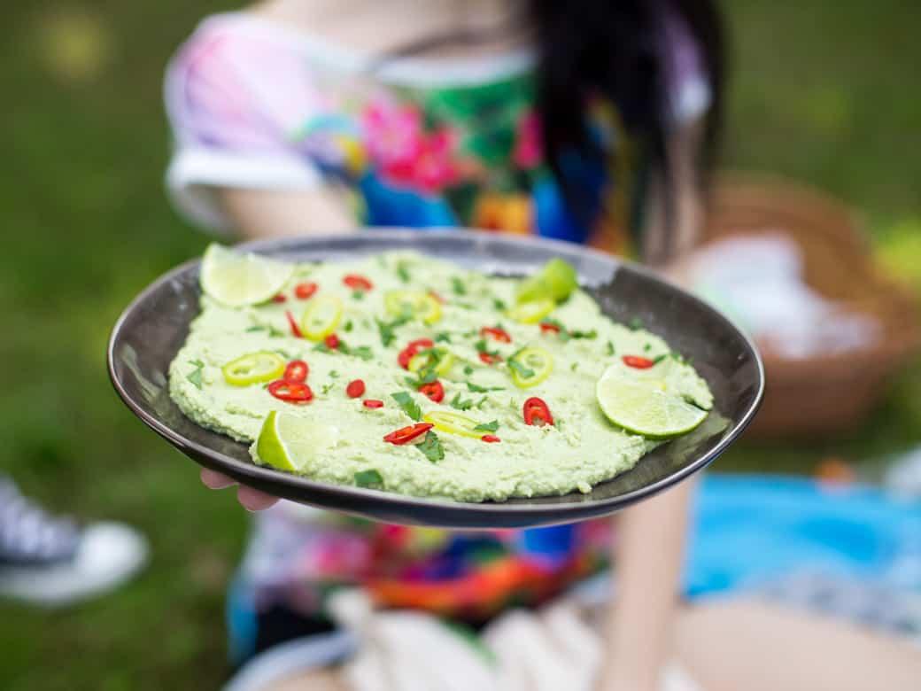 Hummus z zielonego groszku-10