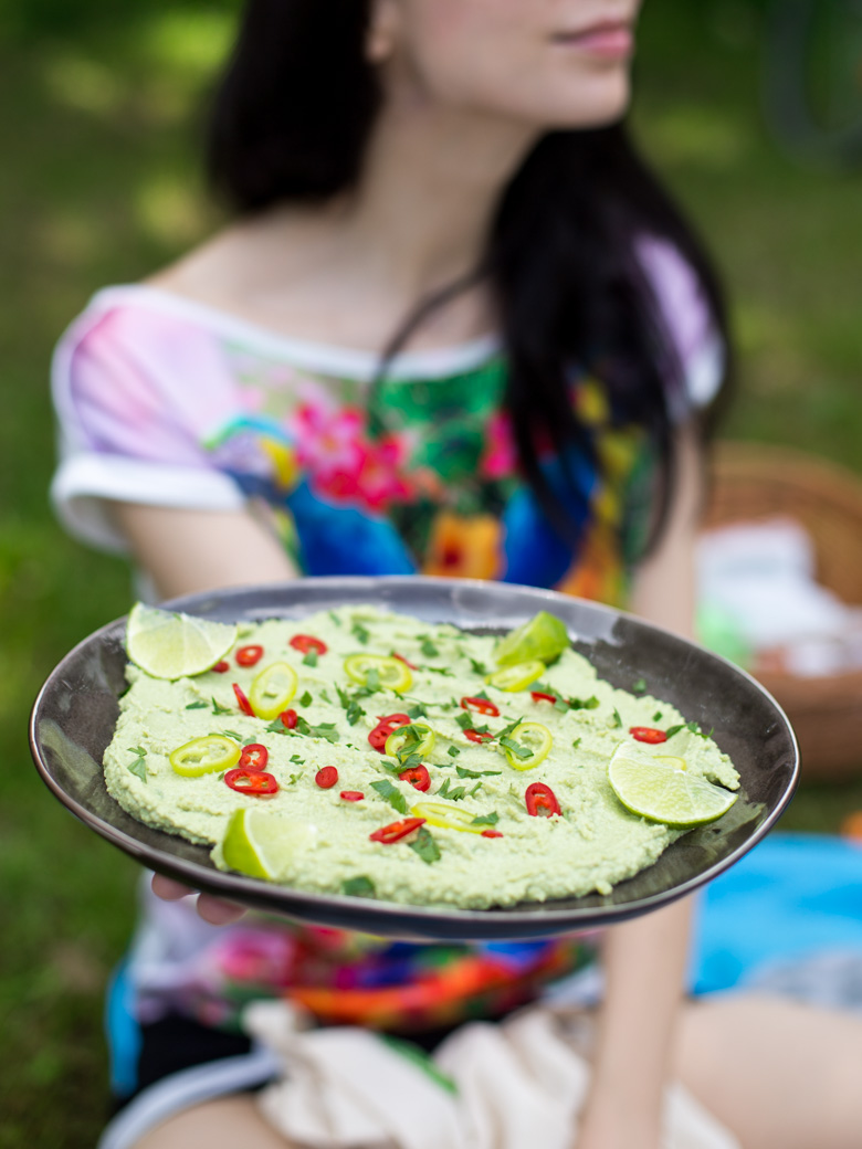 Hummus z zielonego groszku-11