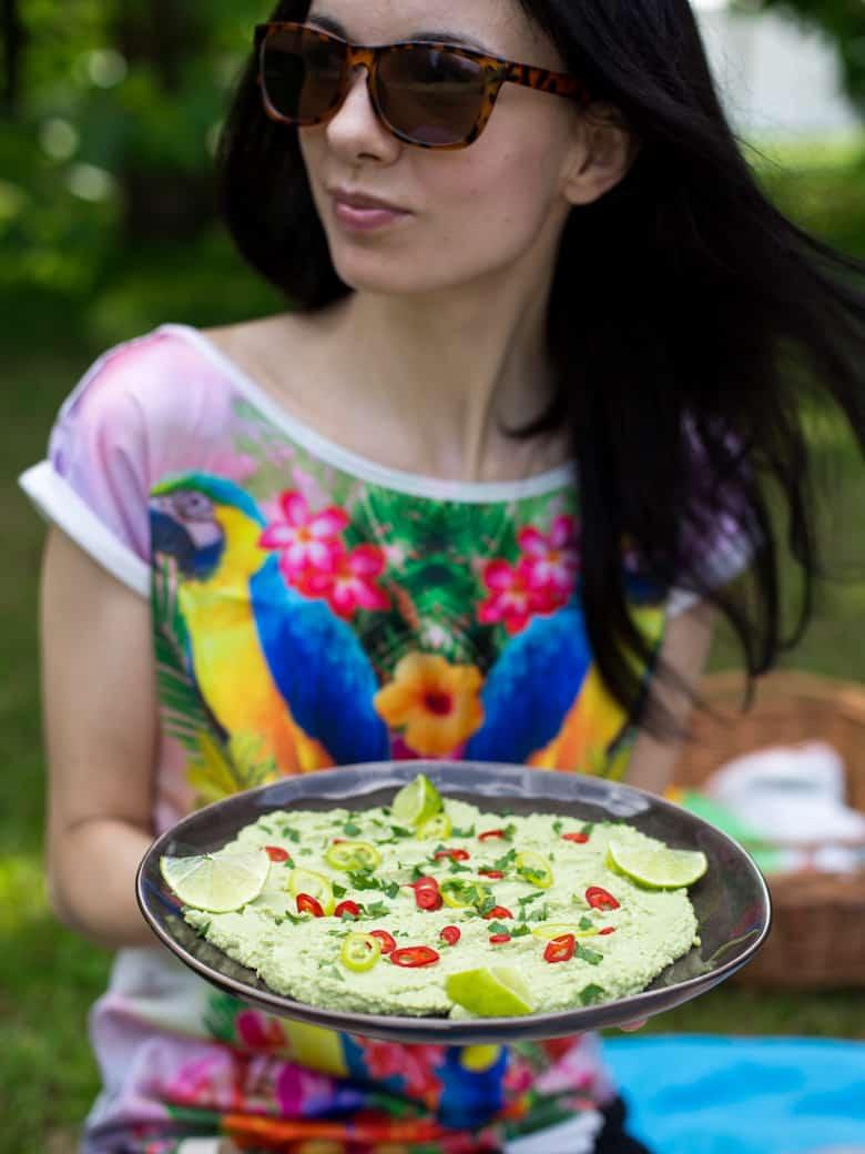 Hummus z zielonego groszku-4