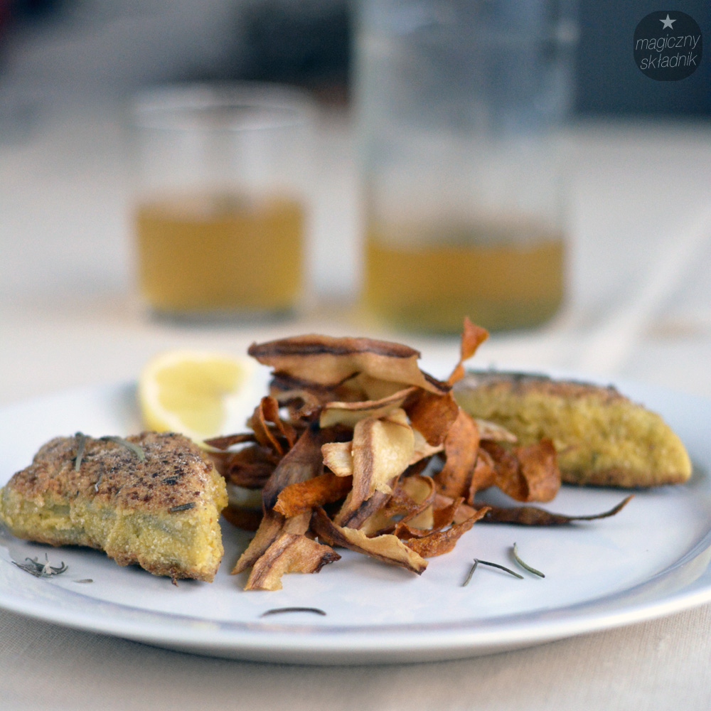 Chipsy z pietruszki i marchewki