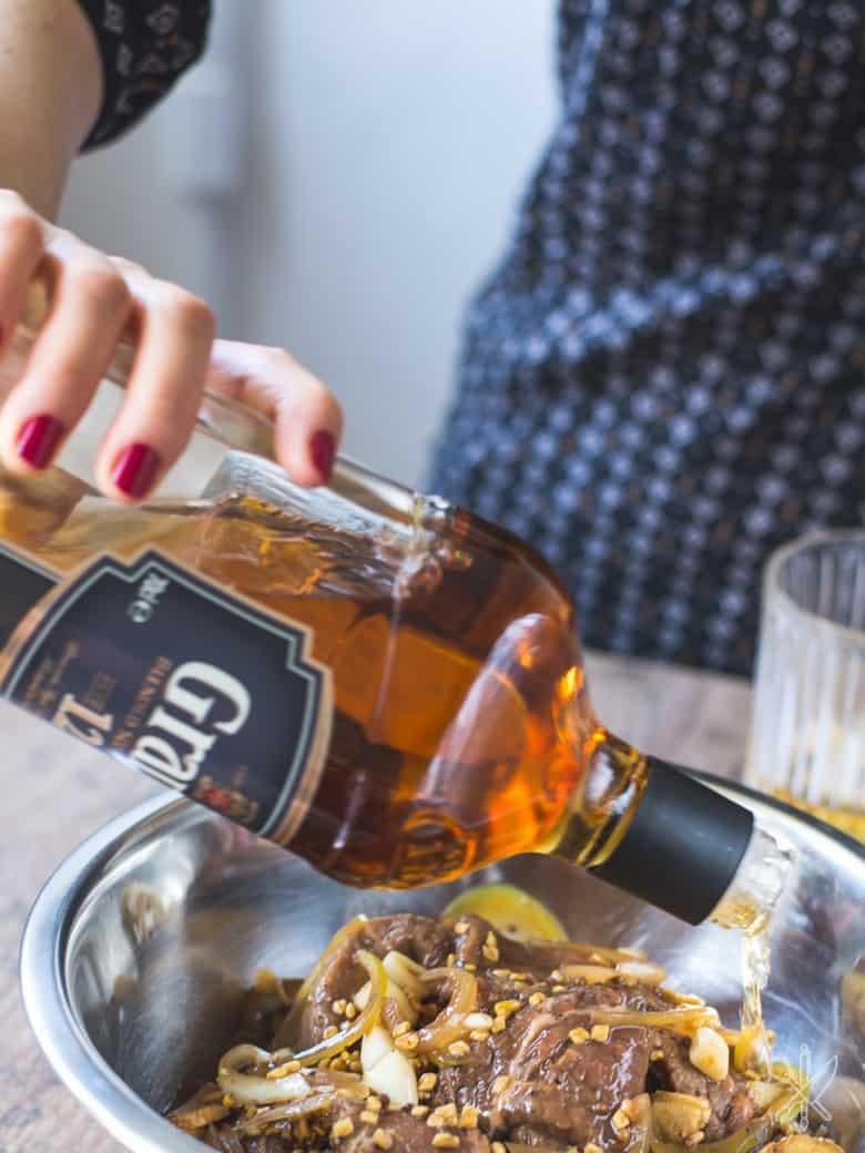 Beef jerky marynowany w whisky-4