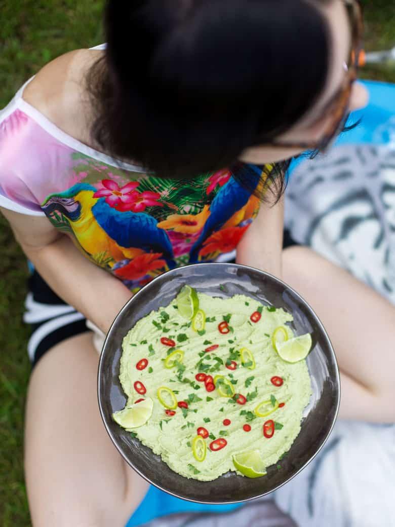 Hummus z zielonego groszku-8